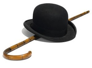 Charlie Chaplin's bowler hat and cane auctions for $62,500 at Bonhams