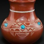 San Ildefonso Etched Redware Jar makes $32,500 at Heritage Auctions