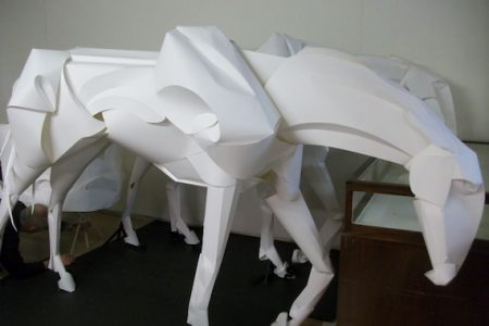 Majestic Lifesize Paper Horses from Lincoln Cathedral Flower Festival Highlight New Years Day Auction