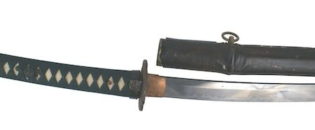 SAMURAI SWORD SURRENDERED BY JAPANESE REAR ADMIRAL NOBUKAGU YOSHIMI IN 1945 HITS $7,538 AT AUCTION HELD NOV. 16-17 BY MOHAWK ARMS