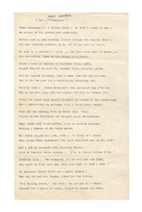 W. H. Auden poem manuscript Stop all the Clocks to be auctioned at Bonhams