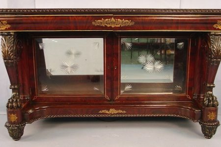 FOUR-PIECE LAMINATED ROSEWOOD ROCOCO PARLOR SUITE BY J. & J.W. MEEKS IN THE HAWKINS PATTERN REALIZES $24,150 AT STEVENS AUCTION, FEB. 15th-16th
