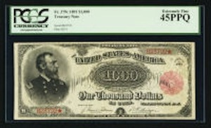 1863 Gold Certificate Highlights Heritage Auction
