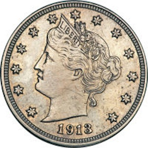 1913 Liberty Nickel Coin Leads Heritage Central States Event