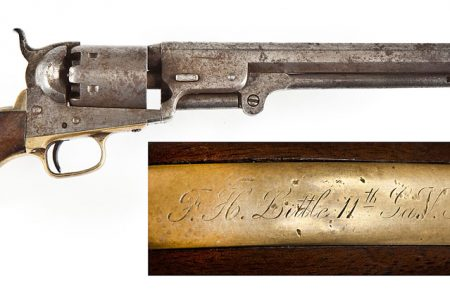 $4,750 CIVIL WAR CONFEDERATE OFFICER INSCRIBED 1851 NAVY REVOLVER AND $3,000 WWII COLT 1911A1 PISTOL ARE TOP LOTS AT CORDIER'S MARCH 24, 2013 FIREARMS & MILITARIA AUCTION