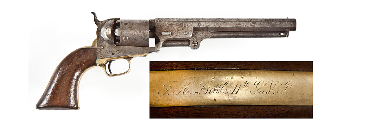 4 750 civil war confederate officer inscribed 1851 navy revolver