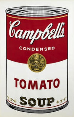 Andy Warhol (1928-1987) Tomato, from Campbell's Soup I (F./S. II.46), 1968 Screenprint in colors on wove paper, signed in black ball-point pen and numbered 121/250 with rubber stamp (there were also 26 artist's proofs), verso, published/printed by Factory Additions/Salvatore Silkscreen Co., Inc., New York, with full margins, framed. 32 x 18 3/4in sheet 35 x 23in