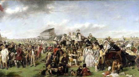 Derby Day picture for auction at Bonhams