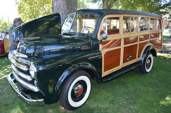 """Vintage car enthusiasts will have a field day drooling over rides like this fully restored Dodge """"Woody"""" station wagon."""
