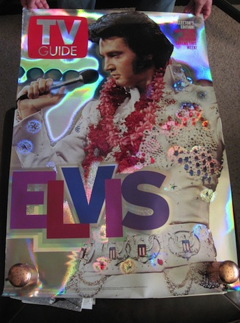 ELVIS - RARE- UNPUBLISHED TV GUIDE HOLOGRAM POSTER