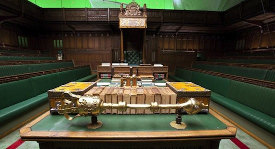 The House of Commons Set used in the film'The Irom Lady'