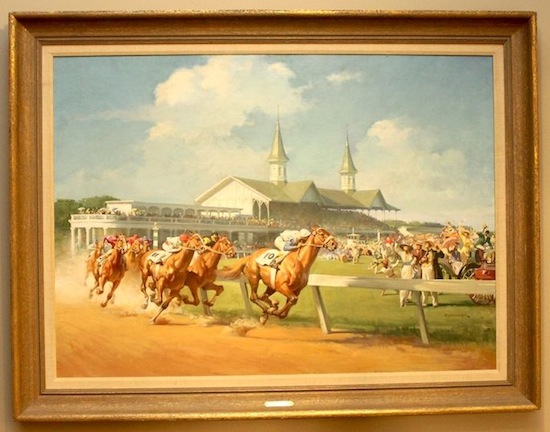 "Original oil painting by Haddon ""Sunny"" Sundblom (1899-1976), titled 1914 Kentucky Derby."