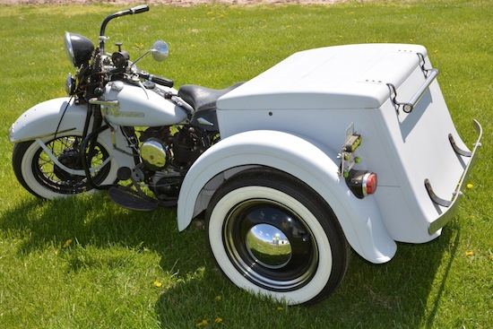 "Three mid-20th century Servi-Car ""trikes"" (three-wheel motorcycles), including the one shown, will be sold."