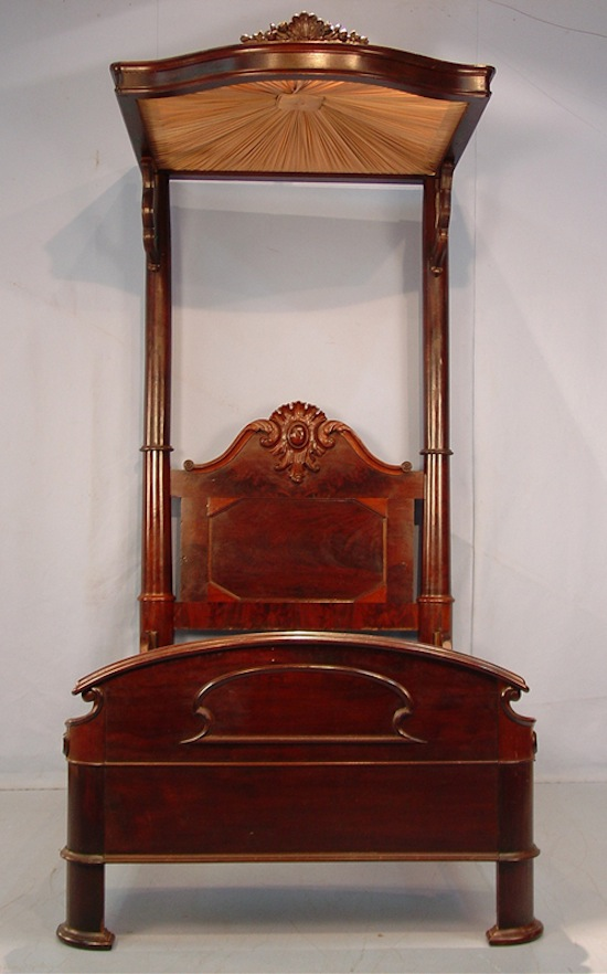 The sale's top lot was this mahogany half tester youth-size bed by C. Lee, circa 1850 ($29,900).