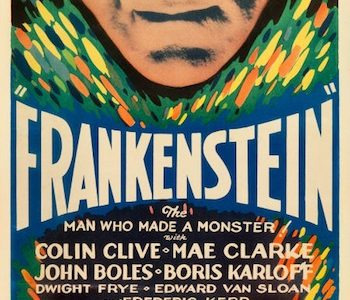 Frankenstein insert for Heritage Auctions July 27-28 movie poster sale