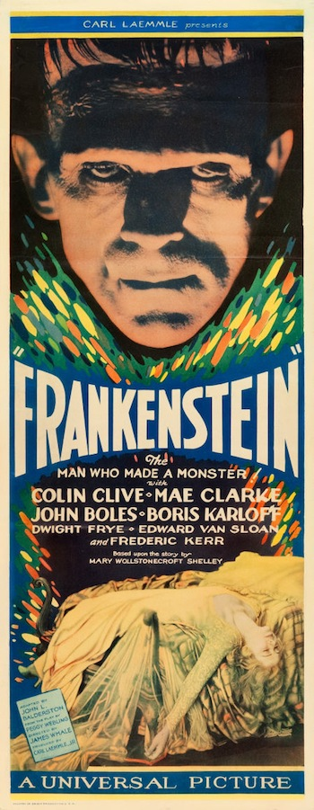 """Frankenstein (Universal, 1931). Insert (14"""" X 36"""""""