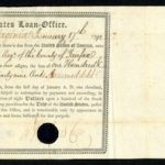 1792 U. S. FEDERAL BOND ISSUED TO AND SIGNED BY GEORGE WASHINGTON WILL HEADLINE ARCHIVES INTERNATIONAL AUCTIONS OCT. 19 AND 22 SALE