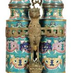 Charlton Hall to auction Lidded Chinese Cloisonne Champion Vase