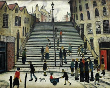 L.S. Lowry painted Black Steps, Wick