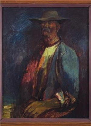 Sir George Russell Drysdale (1912-1981) Old Larsen, 1953 signed 'Russell Drysdale' (lower right) oil on canvas 36 x 28in. (91.5 x 71cm.) Estimate: £550,000-650,000 Lot 51, Sale 1182