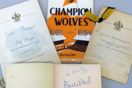 BILLY WRIGHT – A FOOTBALL ICON AT RICHARD WINTERTON AUCTIONEERS LTD