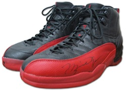 """Ball Boy Consigns Michael Jordan's 1997 """"Flu Game"""" Sneakers To Grey Flannel Auctions"""