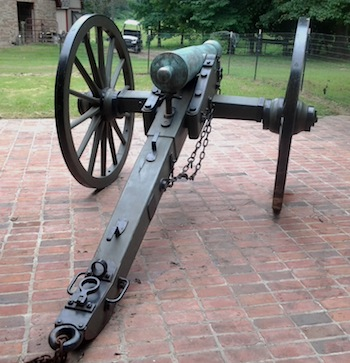3.67-caliber cannon used by Union soldiers at the Battle of Gettysburg in 1863, with letters of documentation.