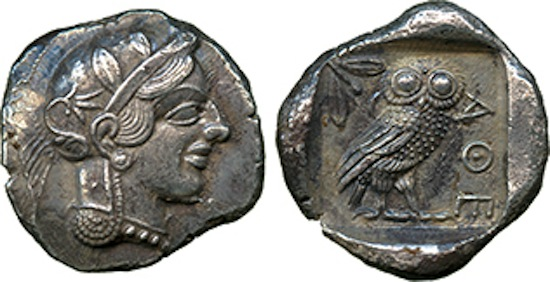Silver Tetradrachm of Athens, 449-415BC