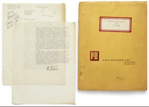 Bonhams to auction film manuscripts by Faulkner and Traven