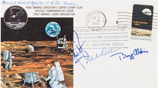 Apollo 11 Flown Crew-Signed Commemorative Cover