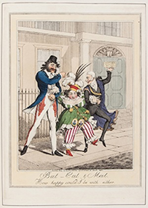 Very rare caricature aimed at Queen Caroline. Part of Lot 42 from the Library of a Gentleman, due to be sold by Dreweatts and Bloomsbury Auctions, 7 November 2013