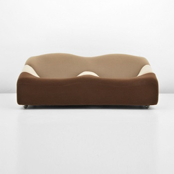 Pierre Paulin (French) 'ABCD' upholstered sofa, est. $3,000-$5,000. Palm Beach Modern Auctions image.