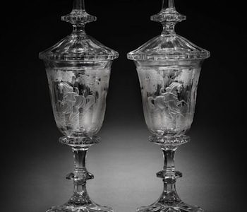 Bohemian glass collection auctioned at Bonhams