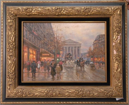 Paris street scene by the French painter Edouard Cortes (1882-1969), one of many original artworks in the auction.
