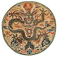 An exceptional Ming Kesi Imperial dragon roundel