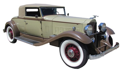 1932 Packard 902 Standard convertible coupe in excellent restored running condition. Est. $40,000 to $60,000.