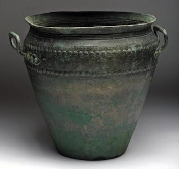 An Exceptional Hallstadt Bronze Situla, ca. 1000-800 BCE.