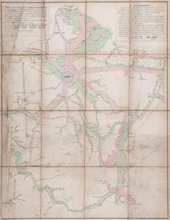 Minard (Charles Louis) - Carte figurative et approximative des Tonnage des Merchandises qui ont circulé en 1855