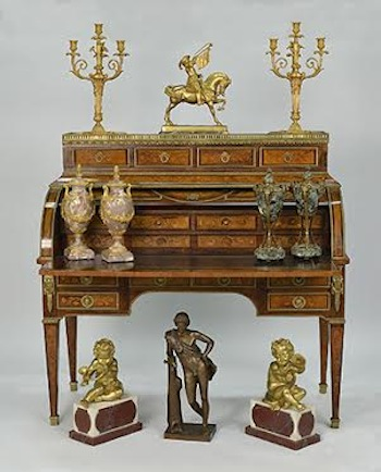 To include over 700 lots of French Furniture and Decorations