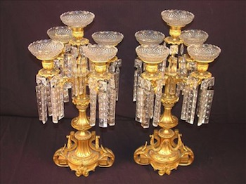 Very heavy French bronze candelabras with beautiful detailing and superb craftsmanship and quality, circa 1860.
