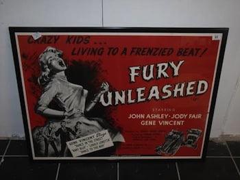 Rare 1958 Quad Poster Fury Unleashed starring Gene Vincent