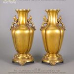 888 Auctions to Showcase Exceptional Pair of Chinese Gilt Gold Bronze Vases July 3