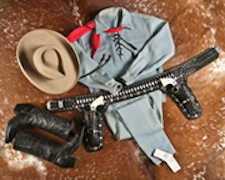 Lone Ranger outfit that Clayton Moore wore at parades, state fairs and other public appearances after retiring from his acting career. A & S Auction Co. image
