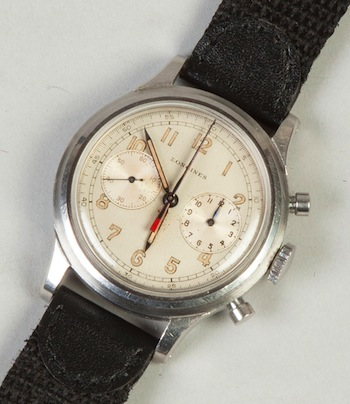 The top lot of the auction was this rare and handsome men's Longines wristwatch from the 1940s ($50,600).
