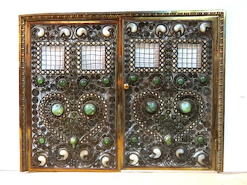 MOORISH BRONZE JEWELED FIRE SCREEN, ATTRIBUTED TO TIFFANY STUDIOS, SELLS FOR $60,000 AT S & S AUCTION'S MAY 18th-19th AUCTION IN REPAUPO, N.J.
