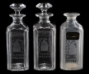 Set of three Bushmills spirit decanters