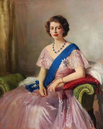 HRH Princess Elizabeth by Sir Oswald Birley (1880-1952)