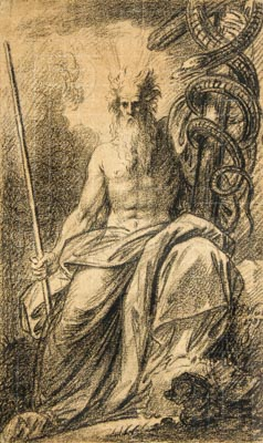 Moses Showing the Brazen Serpent