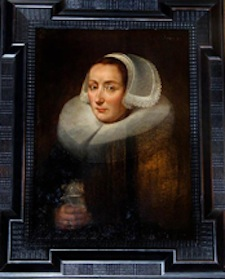 Oil portrait attributed to Jan Anthoniz van Ravenstein (Dutch, circa 1570-1657), from the estate of opera singer Frances Yeend and James Benner to be auctioned Aug. 29-30. Joe R. Pyle Auction image