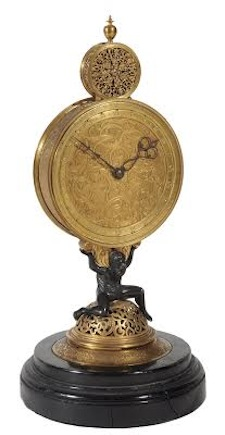 Monstrance clock case in the manner of Jeremias Metzger